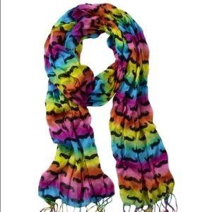 Justice rainbow mustache scarf